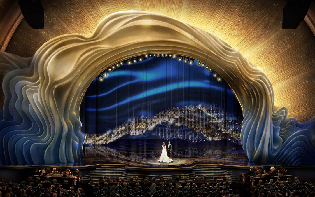26 mil cristales y 40 mil rosas conformaron la escenografía de los Premios Oscar 2019